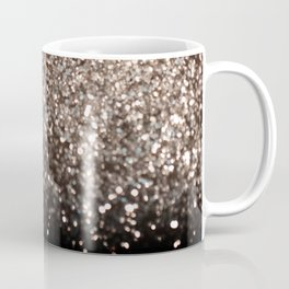 Sparkling GOLD BLACK Lady Glitter #1 #decor #art #society6 Coffee Mug