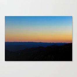 Blue Ridge Parkway Sunset Canvas Print