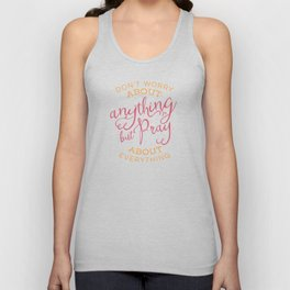 PRAYER OVER WORRY Unisex Tank Top