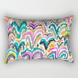 Sprouting Abstract Floral Rectangular Pillow