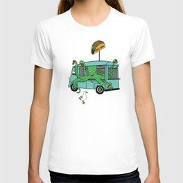 Flock of Gerrys Octo's Taco Cart by Seasons Kaz Sparks T-shirt