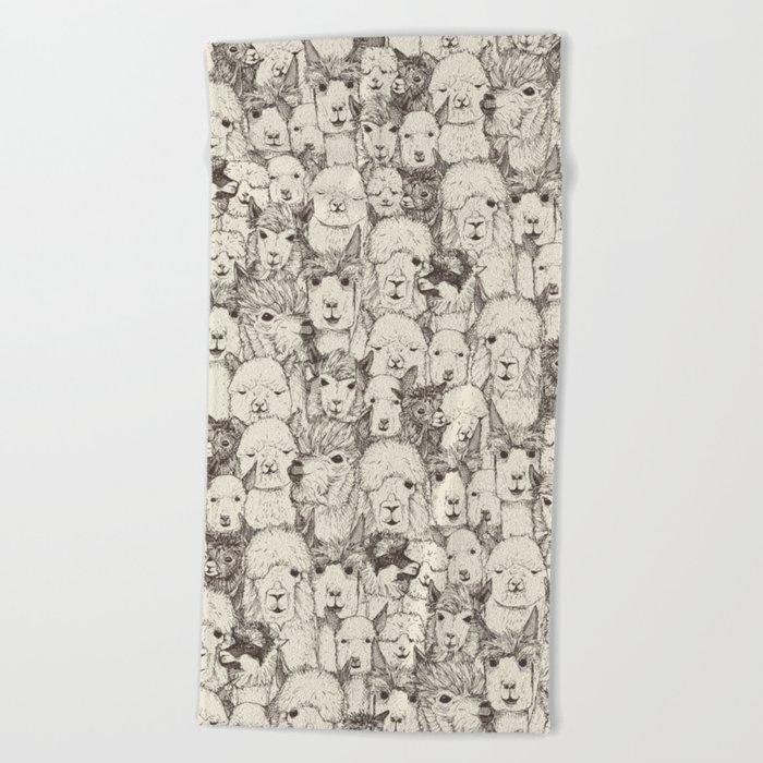just alpacas natural Beach Towel