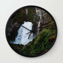 Sahalie Waterfall Oregon Wall Clock