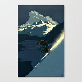 Revelstoke skiing Canvas Print