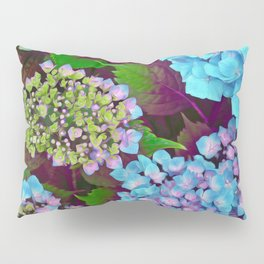 Hydrangea Pink and Blue Pillow Sham
