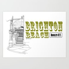 Brighton Beach Elevated Station Art Print