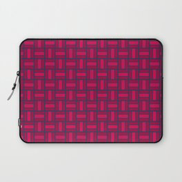 REITERATE - candy apple carmine red and blue block repeat pattern Laptop Sleeve