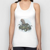 beastie boys Tank Tops featuring Beastie of the Deep by Clinton Jacobs