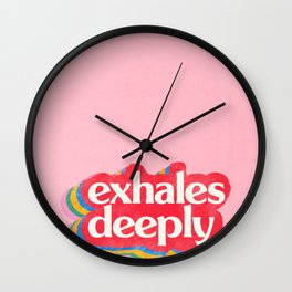 Exhales Wall Clock