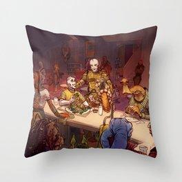 The Mos Emos Cantina Throw Pillow
