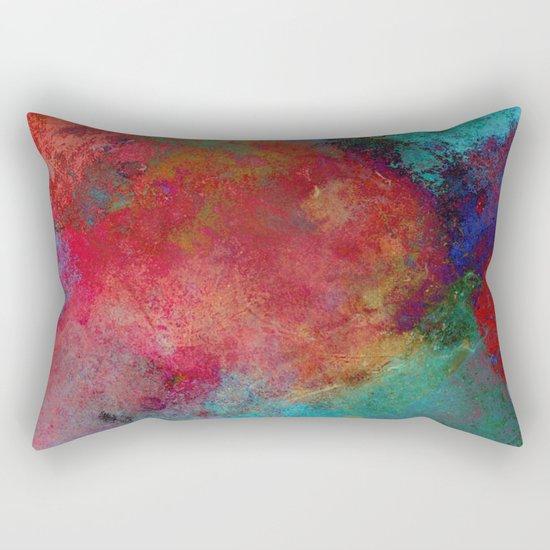 Love - Abstract, textured painting Rectangular Pillow