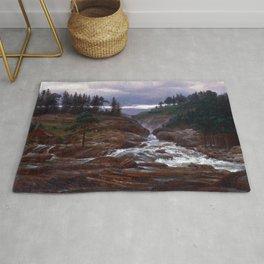 Johan Christian Dahl The Lower Falls of Labrofoss Rug