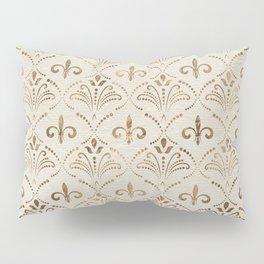 Elegant Fleur-de-lis pattern - pastel gold Pillow Sham