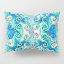 Seamless Wave Spiral Abstract Pattern Pillow Sham