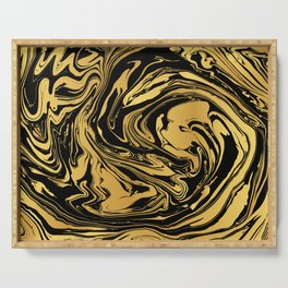 Black and Gold Marble Edition 2 Serving Tray