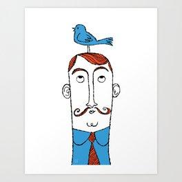 Birdie on Top Art Print