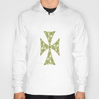 marc johns Hoodies featuring Lindisfarne St Johns Knot Grunge by taiche