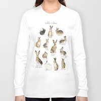 rabbits Long Sleeve T-shirts featuring Rabbits & Hares by Amy Hamilton