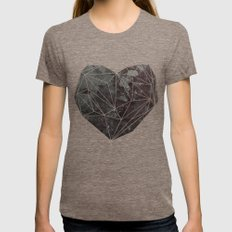 Heart Graphic 4 Tri-Coffee Womens Fitted Tee X-LARGE