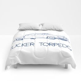 Pen drawing Tucker Torpedo Comforters
