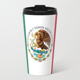 Flag of Mexico - alt version with seal insert Travel Mug