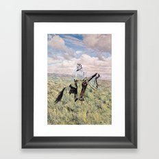 The Unknown Rider in Death Rides The Pecos Framed Art Print