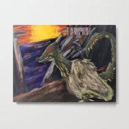Dragon on the Hill Metal Print