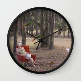 The Rabbit Burrow Wall Clock