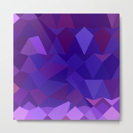 Eminence Purple Abstract Low Polygon Background Metal Print