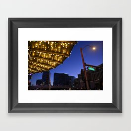 Casino Lights Framed Art Print