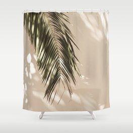 tropical palm leaves vi Shower Curtain