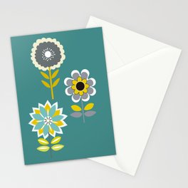 70ies inspired flowers Stationery Cards
