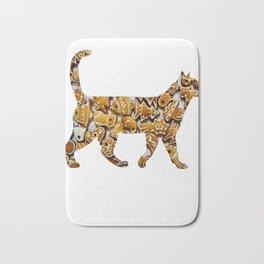 Gingerbread cat Bath Mat