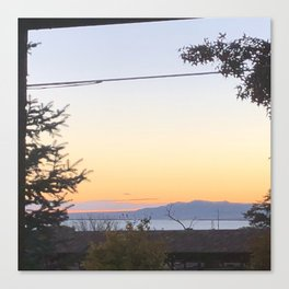 Sunset by the bay Canvas Print