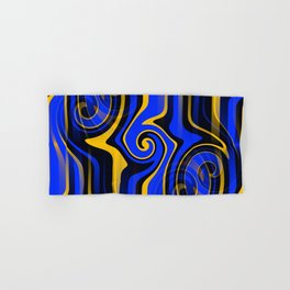 Regal Blues Abstract Hand & Bath Towel