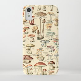 Trippy Vintage Mushroom Chart // Champignons by Adolphe Millot XL 19th Century Science Artwork iPhone Case