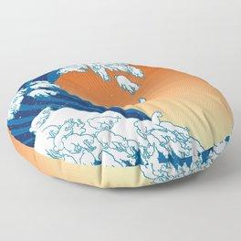 Llama Waves Floor Pillow