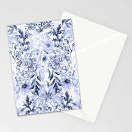 Watercolor grey floral hand paint Stationery Cards