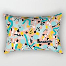 CIRCLES IN MOTION - peach/ yellow/ mint Rectangular Pillow