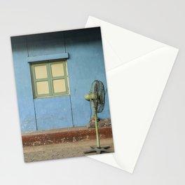 BROWN PEDESTAL FAN Stationery Cards