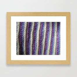 Crochet Close-up Framed Art Print