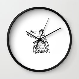 Petticoat. Knife. Patriarchy. Wall Clock