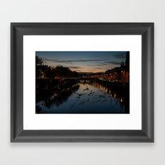 sunset flock Framed Art Print