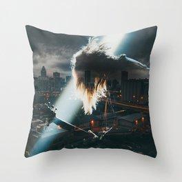 Guitar Hero city Throw Pillow