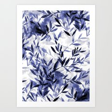 Changes Indigo Art Print