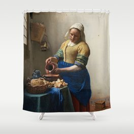 Vermeer - The Milkmaid Shower Curtain