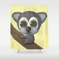 koala Shower Curtains featuring KOALA by Ainaragm