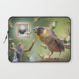 Illegal Bird Meeting Laptop Sleeve