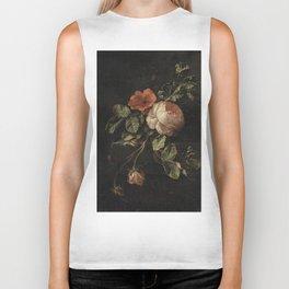 Botanical Rose And Snail Biker Tank