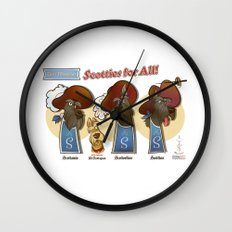 Scotties for all! Wall Clock